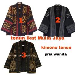 Blazer kimono tenun/outer batik/outer tenun/ouwear batik/cardigan