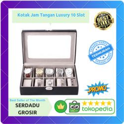 Kotak Tempat Jam Tangan Luxury 10 Slot (Box Penyimpanan)