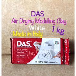 ATK0674DS 1kg Putih DAS Modelling Air Drying Clay F387500 white 1000 g