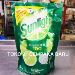 Sunlight Jeruk Nipis Refill 400 ml | Cairan Pencuci Piring Pouch 400ml