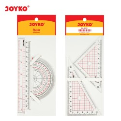 Acrylic Ruler Set / Pengaris / Busur Joyko RL-ACS1 / 1 SET 4 PCS