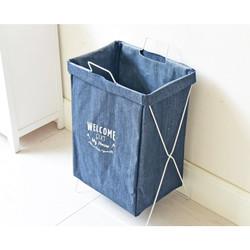 Dosay | keranjang kain laundry bag standing berdiri besi kaki besar