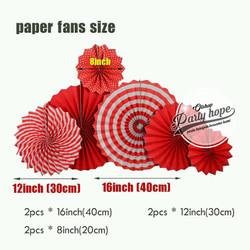 paper fan / Paper Fans Dekorasi merah / Paper Fans bunga kipas merah