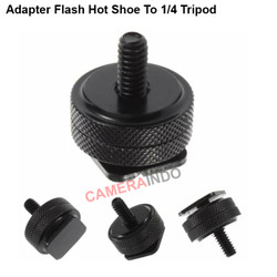 Adapter Flash Hot Shoe To 1/4 Tripod Kamera DSLR