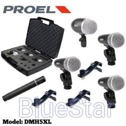 Mic Drum Proel DMH5XL Original Drum Kit DMH 5 XL