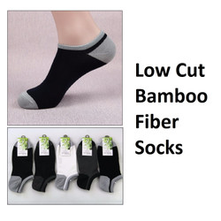 KK013 Kaos Kaki Pria Low Cut Bambu Fiber Socks Bamboo - BLACK