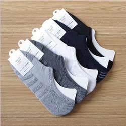 KK011 Kaos Kaki Handuk Tebal Hidden Socks Unisex Kaos Kaki Pendek Pria - BLACK