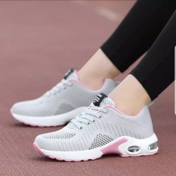 Sepatu Sneakers Wanita Adeva SDS323 - Abu-abu, 39