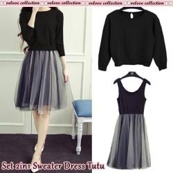 Set 2in1 Sweater Dress Tutu