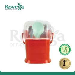 Rovega Small Spoony Tempat Sendok Premium Food Grade (MERAH)