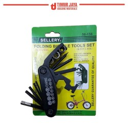 Folding Bicycle Tools set Sellery / Obeng , Kunci sok Set Sepeda
