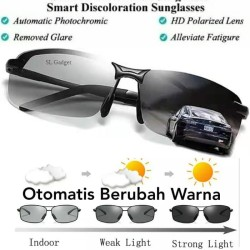 Kaca Mata Anti Silau Siang Dan Malam Photochromic Polarized Sunglasses