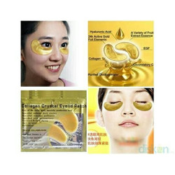 Masker Mata Crystal Collagen Gold Powder Eye Mask Bag Eyemask Naturgo
