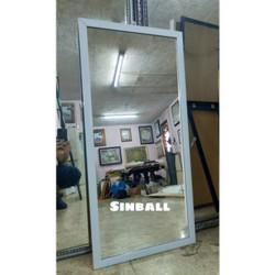 Cermin Kaca body mirror minimalis gantung dinding - Putih