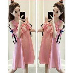 [Sabrina riyuki M FT]dress wanita katun merah