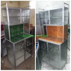 Jual Lemari Rak Piring 2 Dua Pintu Super Aluminium Keramik Unik Cantik -  Kota Tangerang - Meubel/Mebel Jatake   Tokopedia