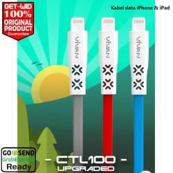 Kabel Data iPhone iPad Lighting 2.4A Vivan Upgraded CTL100 ORIGINAL