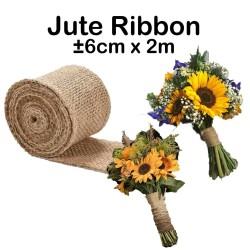 Jute Ribbon 6cm x 2m - Burlap Ribbon - Goni - Pita