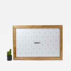 Bingkai 12RP Minimalis - Frame JL3 Coklat Jati + Kc