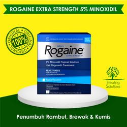 Rogaine Minoxidil Extra Strength Solution Liquid Segel Free Pipet