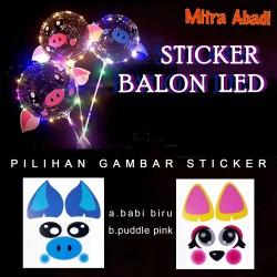 Sticker Tempel Balon LED/LED Balloon Sticker - Unicorn bunga