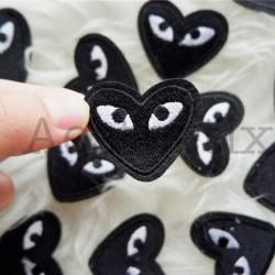 iron patch / patches / emblem / bordiran cdg eyes