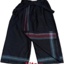 sarung celana anak 5-12tahun - Hitam, 5-6 tahun