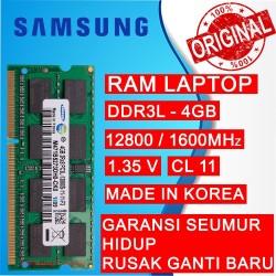 RAM NB DDR3L 4GB PC 12800/1600 MHz SODIMM LAPTOP/NOTEBOOK SAMSUNG