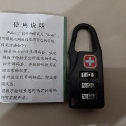 Gembok Swiss Zipper Lock Gembok Kunci Koper Gear Army Keychain Lock