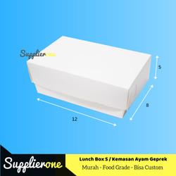 Lunch Box S, Kemasan Ayam Geprek, Box Ayam Geprek, Dus Ayam Geprek