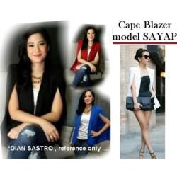 Cape Blazer Sayap - size L Blazer dian sastro