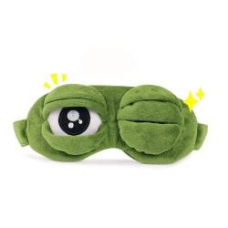Masker Penutup Mata Desain Kodok 3D untuk Tidur Saat