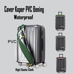 Cover Pelindung Koper PVC Plastik Bening / Luggage Cover Waterproof