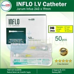 Onemed Inflo Iv Catheter 24g X 19mm / Jarum Infus @Pcs