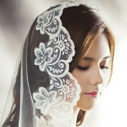 Kerudung wedding veil pernikahan 1,5 meter