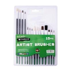 Mont Marte Silver Series Paint Brush Set 15pcs