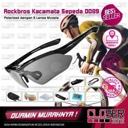 Rockbros Kacamata Sepeda Polarized Lengkap Dengan5 Lensa Myopia - 0089