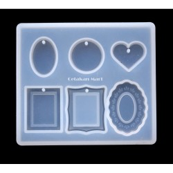 CM Cetakan Resin Craft Mini Mix Frame 6 cav Silikon