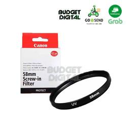 Filter UV Protector Canon 58mm untuk Lensa Hitam - Coating Berkualitas