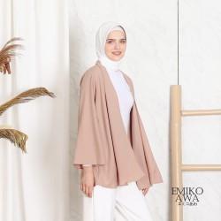 Outer Basic Premium - Emikoawa Baju Vest Cardigan Wanita Outwear Polos