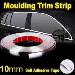 List chrome moulding strip silver jendela bumper lis pintu mobil 10mm