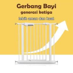 New Version 3 - Baby Safety Gate Pagar Pengaman Bayi Gate / 7 10 20 cm