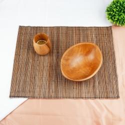 Kahang| alas meja makan tatakan piring gelas 45x35 cm anyam murah unik