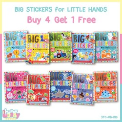 BUY 4 GET 1 FREE - Big Stickers for Little Hands Sticker Activity Book