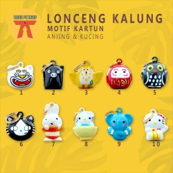 LONCENG KALUNG Kucing BELL CARTOON WITH GOLD RING / MOTIF KARTUN