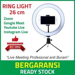 Ring Light LED Selfie 120 LED 26 cm + Smartphone Holder+ Mini Tripod