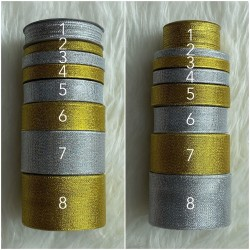Pita Glitter Gold Dan Silver Berbagai Ukuran