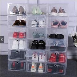 Sale Kotak Sepatu Pria Murah Flip Buka Depan Dengan Frame Plastik -