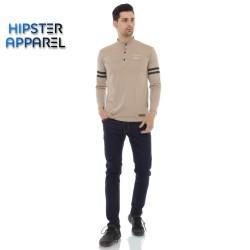 HIPSTER (t-shirt) kaos lengan panjang warna khaki