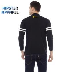 HIPSTER (t-shirt) kaos lengan panjang warna hitam